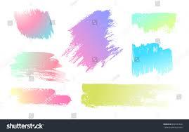 hand drawing brush stroke set black stock vector 660347848