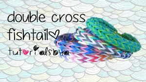double cross bracelet images Double cross fishtail angel halo rainbow loom bracelet tutorial jpg