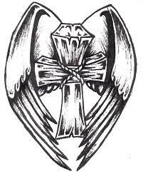 winged cross flash sketch by narfikinz on deviantart