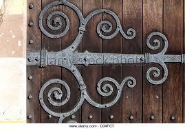 ornate church door hinge stock photos ornate church door hinge
