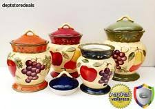 tuscan kitchen canisters sets tuscany canisters ebay