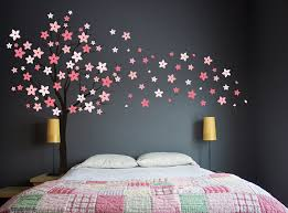 Cherry Blossom Tree Wall Decal For Nursery Pretentious Pink Wall Decals Or Funtosee Vintage
