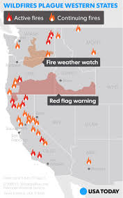 Wildfire Map America by Calif Wildfire Threatens Thousands Of Homes