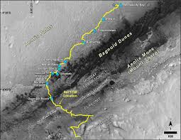 Image Mapping Mid 2017 Map Of Nasa U0027s Curiosity Mars Rover Mission Nasa