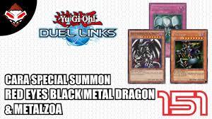 yu gi oh duel links 151 cara summon red eyes black metal