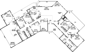 single story 5 bedroom house plans ranch style house plan 5 beds 3 50 baths 3821 sq ft plan 60 480