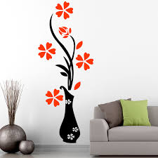 floral wall stickers for living room home décor by wallmantra