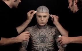 video zombie boy demonstrates ultimate tattoo concealer telegraph