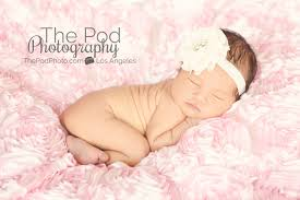 baby photography los angeles pink flower fabric best infant photography los angeles los