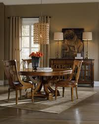 Hooker Dining Room Table by Hooker Furniture Tynecastle Leather Topped Traditional Executive