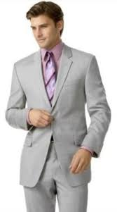 light gray vested suit silver gray very very light gray ash 2 button double v