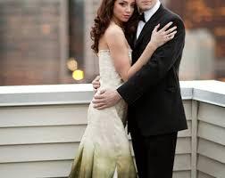 ombré wedding dress ombre wedding dress etsy