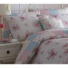 Patchwork Duvet Sets Dreams N Drapes Patsy Rose Floral Reversible Patchwork Duvet Set