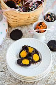 easter sweet yellow yolk oreo cheese easter eggs recipe chefdehome