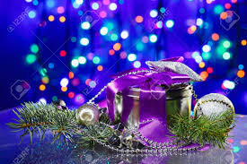 Fancy New Years Eve Decorations by New Year Decorations With Fancy Box On Circles Bokeh Background