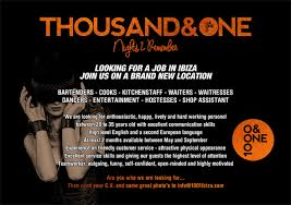resume for bartender position available flyers ibiza job offers