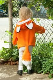 baby fox hoodie halloween costume jacket toddler fox orange