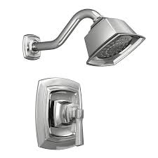 shop moen boardwalk chrome 1 handle shower faucet with valve at