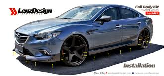 new mazda 2015 mazda 6 gj atenza tuning u0026 body kit lenzdesign performance 2013