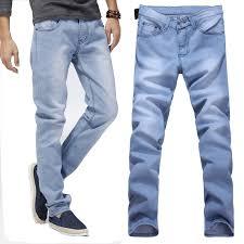 Light Colored Jeans Aliexpress Com Buy Spring Summer Light Color Jeans Men Slim