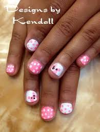sweet pink hello kitty nails on the cutest little gel nail