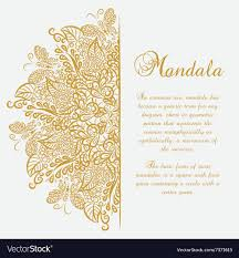 mandala white background gold ornament royalty free vector