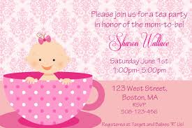 party invitations free download tea party baby shower invitations