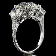 1408 1 art deco inspired pave set diamond hand engraved 3 stone