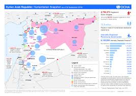 Syria Map by Syrian Conflict And Refugee Map World Vision Australia