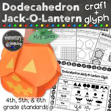 halloween math activity dodecahedron jackolantern glyph and