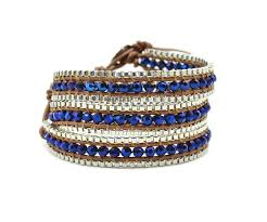 wrap bracelet images Blue crystal leather wrap bracelet wrap bracelets shop uk jpg