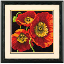 dimensions needlepoint kit poppy trio