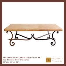 031 rectangular coffee table iron base chocolate finish copper
