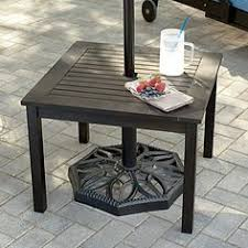 Patio Umbrella Stand Side Table Average Patio Size Diagram Of Dimensions The Concrete Network