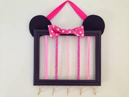 thrifty treasures make character hair bow organizers like this thrifty treasures make character hair bow organizers like this minnie mouse one easy
