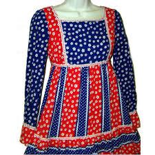 miss american pie sue brett junior maxi dress patriotic xxs