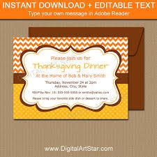 printable thanksgiving dinner invitation editable fall