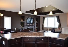 open concept kitchen living dining same set up as our bi