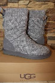 s isla ugg boot ugg australia gray isla sweater and suede boots booties size us 9