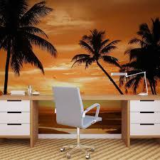 beach tropical sunset palms photo wallpaper mural 888wm beach tropical sunset palms photo wallpaper mural 888wm