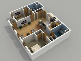 prepossessing 20 simple house plan with 2 bedrooms 3d decorating