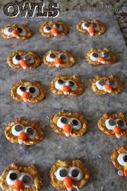 my owl barn pretzel chip owl or turkey recipe