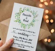 wedding invitations greenery printable green wedding invitation printable greenery wedding