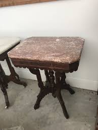 victorian marble top end table value and information on victorian marble top end tables my