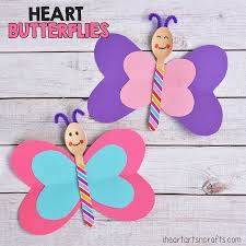 heart butterfly craft for kids i heart arts n crafts
