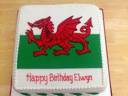Flag Cakes Welsh Flag Novelty Birthday Cake Susie U0027s Cakes