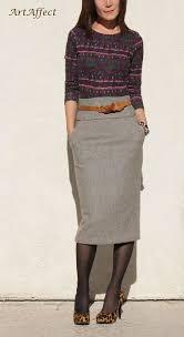 tweed skirt high waist pencil skirt wool tweed skirt winter skirt midi