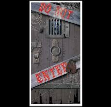 dungeon door cover do not enter spooky halloween wall decoration