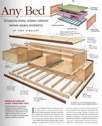 Diy Platform Bed With Drawers Plans by 2733 Under Bed Storage Plans Furniture Plans Storage Beds