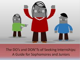 Where To Seeking The Do S And Don Ts Of Seeking Internships